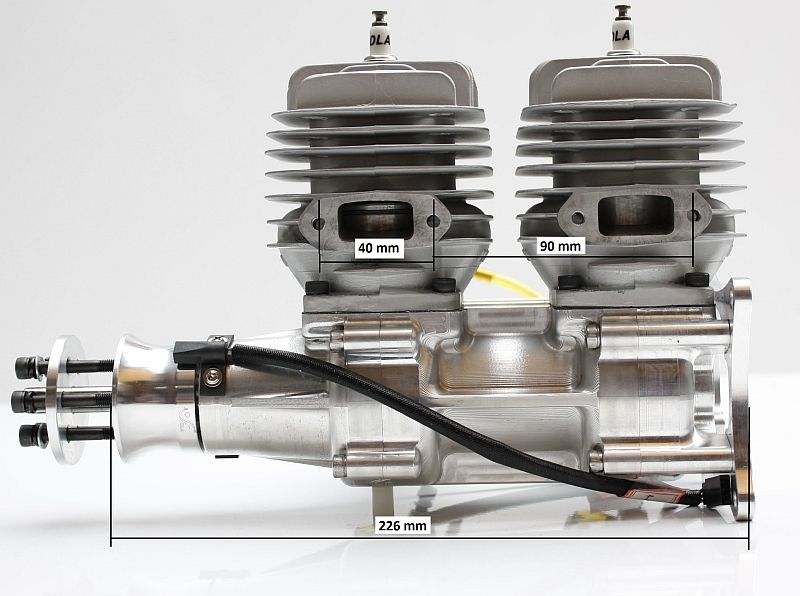 Dla Engine Dla116 I2 Inline 116cc Rc Model Gas Engine 12