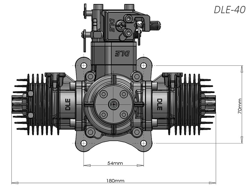 DLE40 Twin gas engine