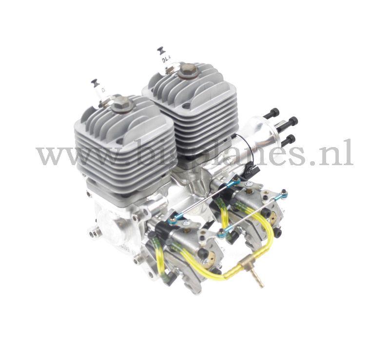DLA64 64cc i2 inline rc model gas engine (7 2hp, 2600gr)