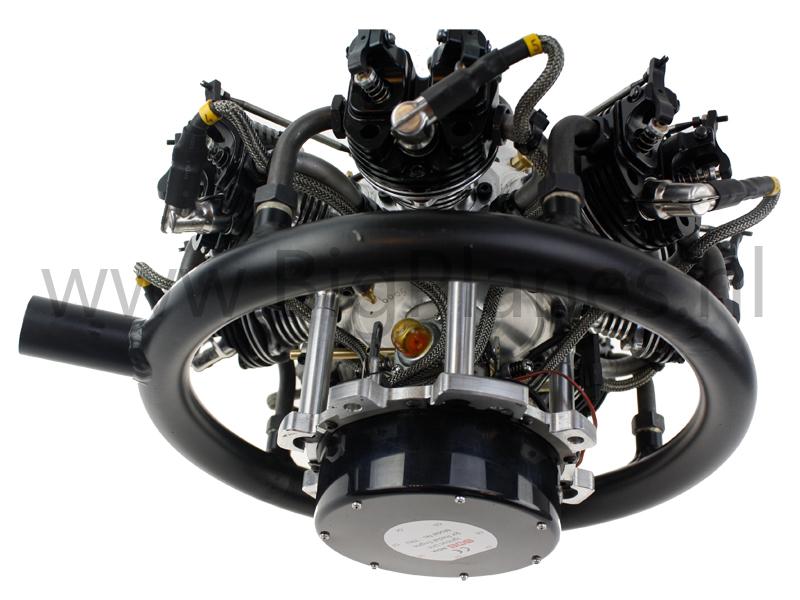 UMS 7-160cc Radial 4-stroke Gas Engine (10 6hp, 4600gr)
