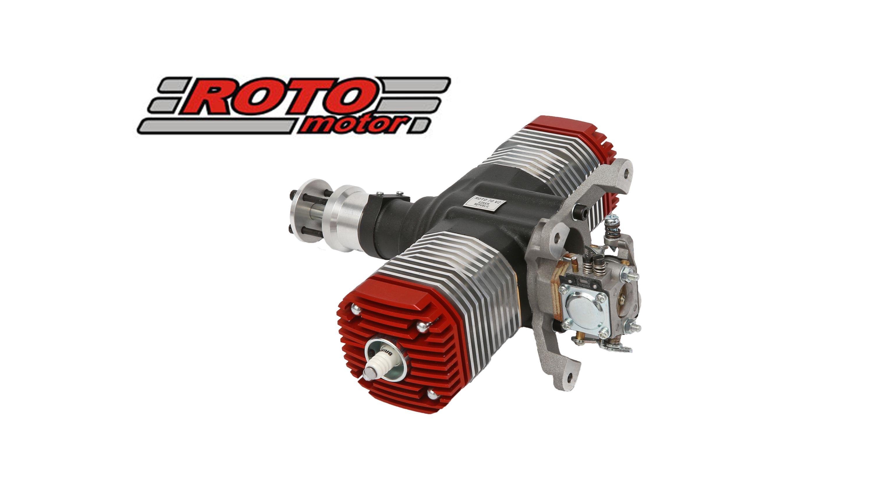 Roto 70v2 70cc Rc Model Gas Engine 2490gr