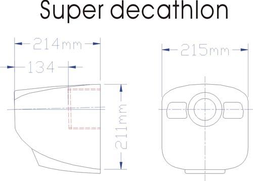 super decathlon star airplane arf  245cm  8kg  35cc  cymodel