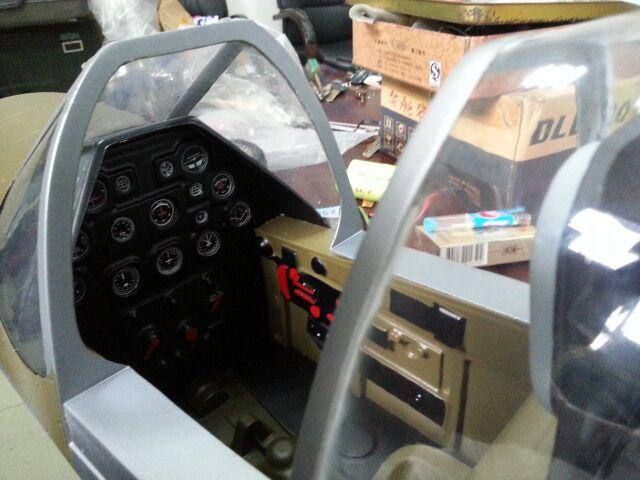 Spitfire Full Composite Model Airplane Arf 206cm 7kg
